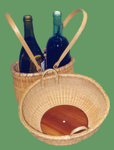 Fruit Basket with Wine Carrier Photograph.