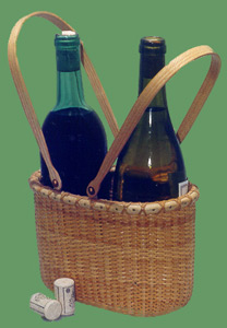 Nantucket Double Wine Carrier Basket Photograph.